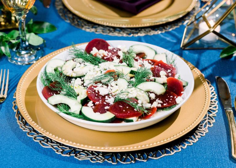 beet and cucumber salad