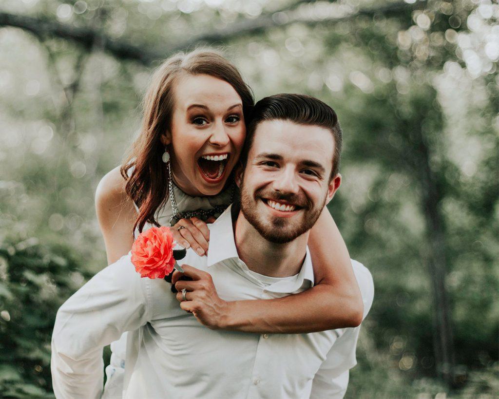 couple together on honeymoon