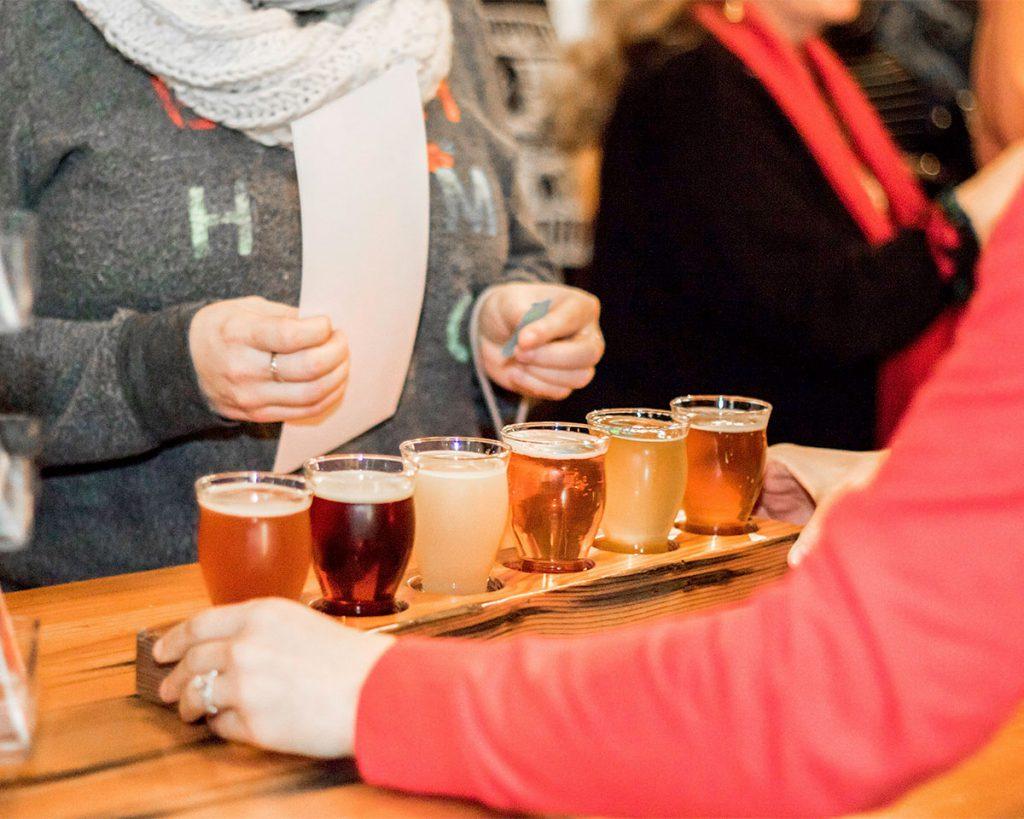 flight of drinks