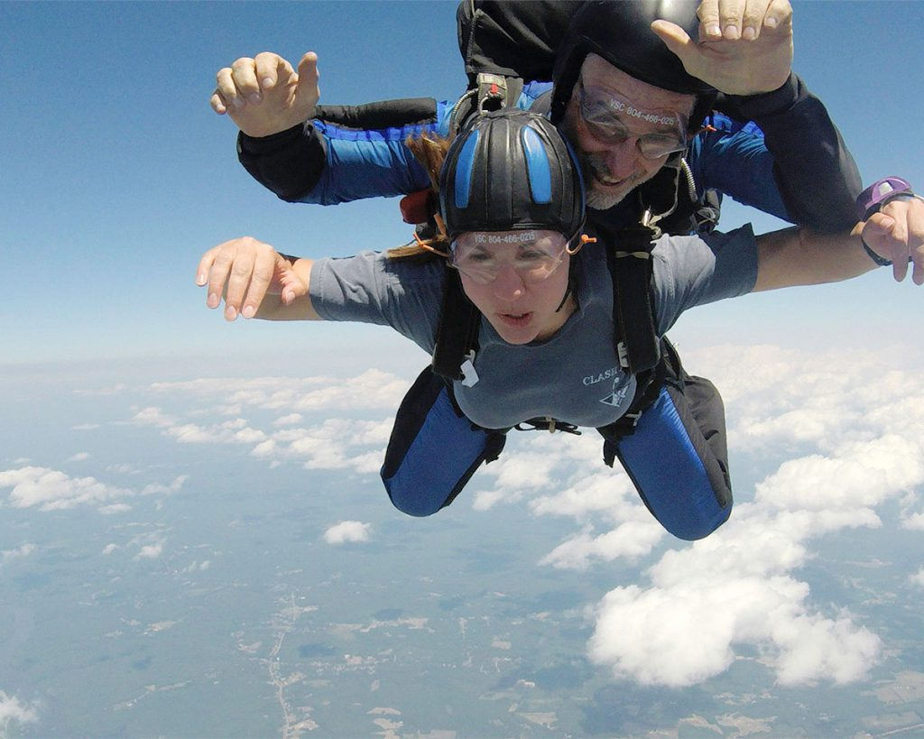sky dive honeymoon