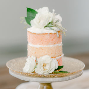 small pink ombre naked cake