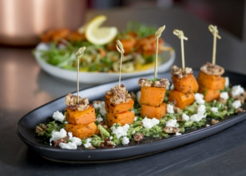 Food sweet potato skewers at South Haven Creations