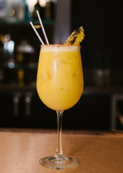 bar with pineapple cocktail