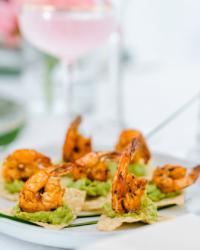 shrimp and quac at south haven creations wedding venue