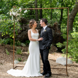 wooded ceremony site at south haven creations venue