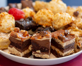 Event catering assorted dessert tray