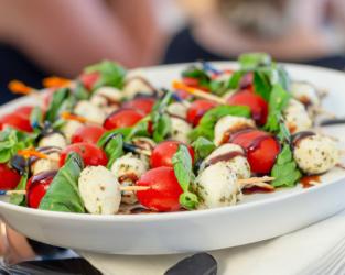 Event food - caprese skewers