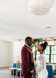 groom and bride at venue