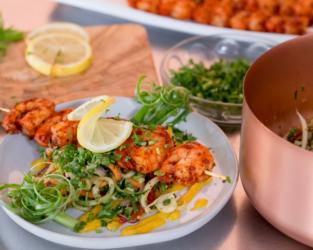 Wedding food - Shrimp dish
