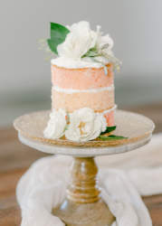 small ombre naked wedding cake