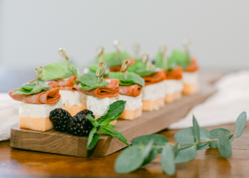 melon cheese appetizers at venue