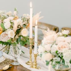 wedding venue tablescape blush