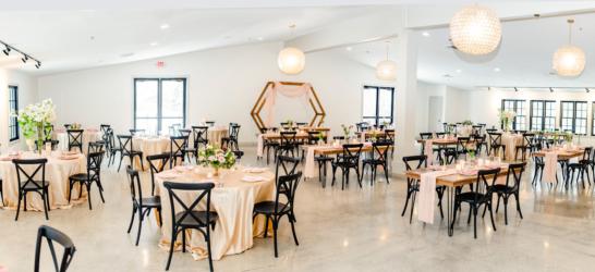 south haven creations wedding venue room setup
